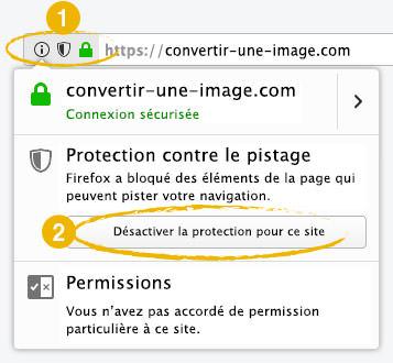 Écran de Firefox : Protection contre le pistage