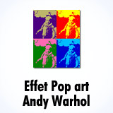 Effet 'Andy Warhol' / pop art