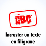 Superposer un texte en filigrane